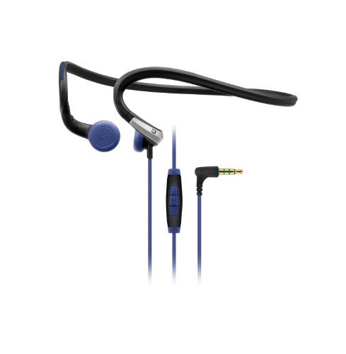 edacf2317ef Amazon.com: Sennheiser PMX 685i Sports In-Ear Neckband Headphones - Black/ Blue, 3.5 mm, angled (Discontinued by Manufacturer): Home Audio & Theater