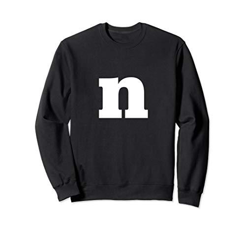 Letter N - Lower Case N - Alphabet Letter N Sweatshirt