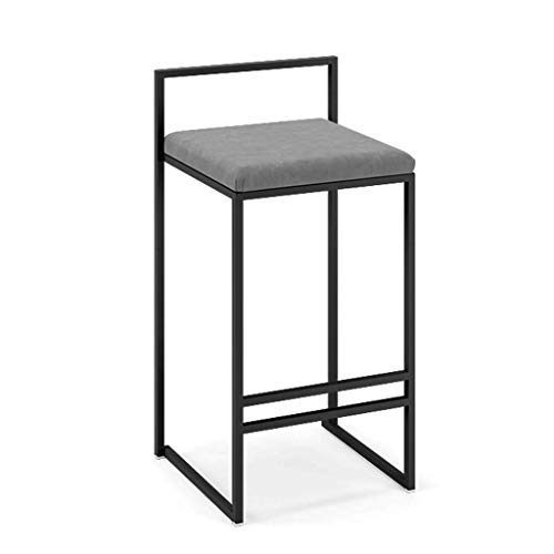 Suede Adjustable Bar Stools - Bar Stools Counter Stool High,Wrought Iron Modern Minimalist Personalized Dining Chair Casual Suitable for Kitchen Dining Room Living Room FENPING (Color : Gray, Size : 76cm)
