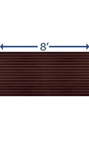 Count of 2 New Mahogany Horizontal Slatwall Panels - 4' x 8'