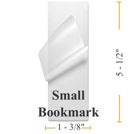 5 Mil Small Bookmark 1 3/8 x 5 1/2 - 100 Laminating Pouches - Guardian Choice Paper Finishing Supplies