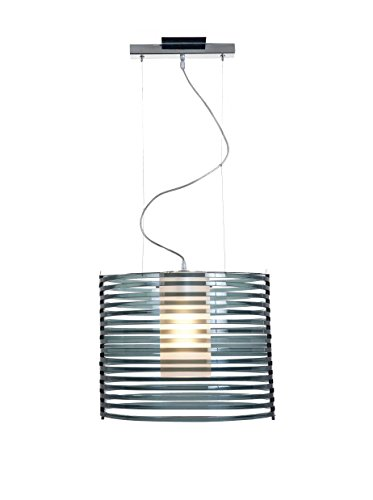55526-CH/ASM Chrome Pendant with Smoked Acrylic Glass Enzo Access Lighting 55526-CH/ASM