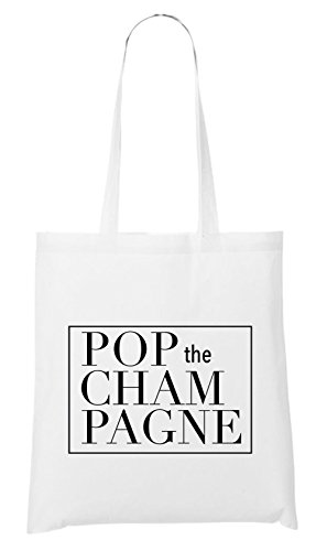 Pop The Champagne Bag White