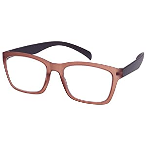 Edge I-Wear High Quality Lightweight Square Frame Reading Glasses 540968SF-1.25-3(L.CLBRN)