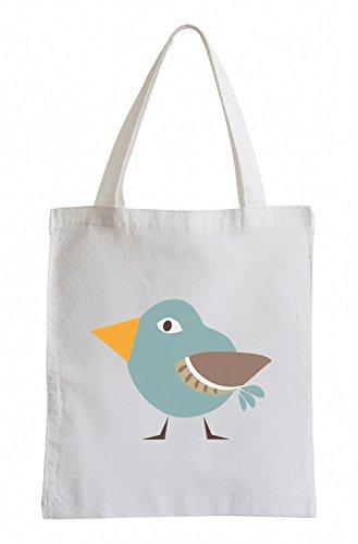Borsa In Iuta Per Uccelli Blu Dolce Raxxpurl