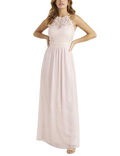 Bubble Hem Baby Doll - LIPSY Womens Hollie Pearl Top Detail Maxi Dress Pink US 10 (UK 14)