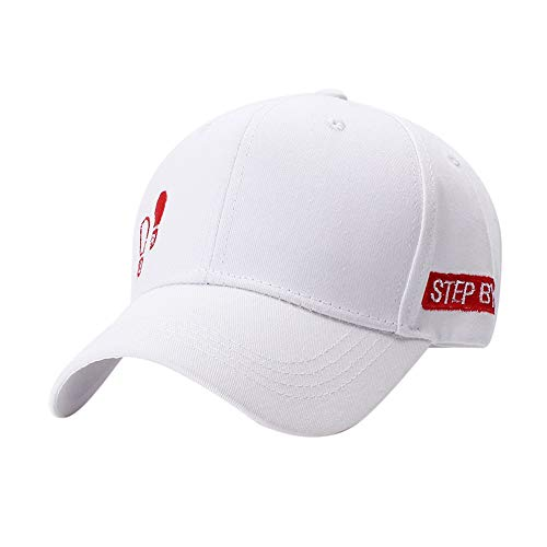 (Yaseking Men Women Baseball Cap, Casual Sun Hat Fashionable Ball Hat with Embroidered Cap Adjustable (White))