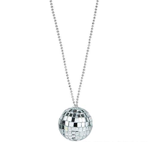 (Rhode Island Novelty JNDISC2 2-Inch Disco Ball Necklace with 30-Inch Chain,)