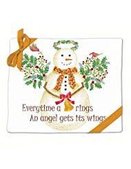 (Snow Angel Snowman Holiday Flour Sack Kitchen Dish Towels Set of 2 Cotton by Alice's Cottage)