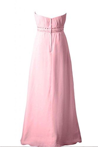 senza A da damigella spalline Sunvary abito line feste d'onore Pink per elegante Sweetheart vestito 8wqnIS5