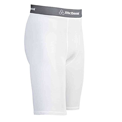 McDavid Classic Logo 810 CL Deluxe Compression Shorts White XX-Large by McDavid