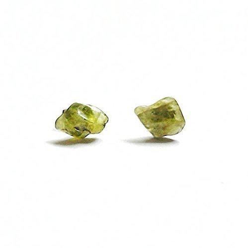 Peridot Asymmetrical Earrings - Green Crystal Flow Studs | August Birthstone