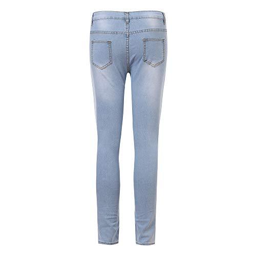 Ihaza Stretchy Pencil Clair Denim Jeans Haute Femmes Bleu Maigre Taille Pants Mode UMGVzqSp