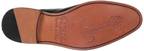 Carlos Monk Leather by Black Loafer Carlos 1960 Men's Santana Strap 7T5Uqw4