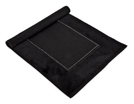 Crystal Collection Viscose (MV Bath Collection MV Swarovski Crystal Absorbent Cotton 1030 gsm Luxury Bath Mat Machine Washable (Black))