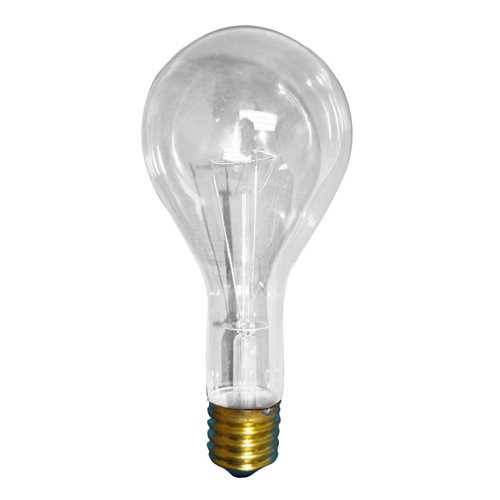 Bulbrite 300PS25CL 300-Watt Incandescent General Service PS25, Medium Base, Clear, 12 Bulbs