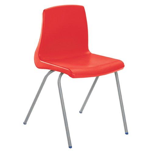 Metalliform np5-sv-sp-red standard Classroom sedia con cuscino per sedia, rosso