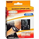 Mueller Sport Care Tennis Elbow Support, Maximum Support, Model 6733, Black, One Size, 1 ea - 2pc