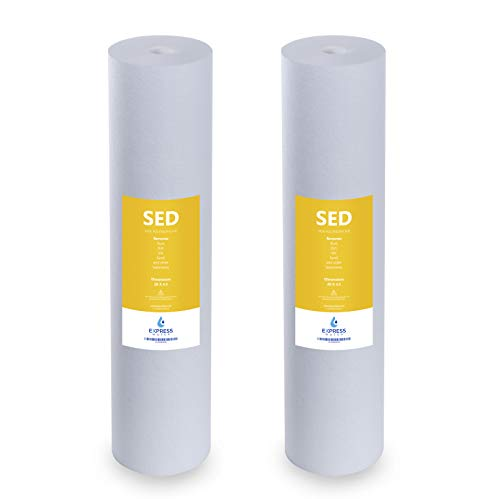 Express Water - 2 Pack Big Blue Sediment Replacement Filter - SED Dirt, Sand, Rust High Capacity Water Filter - Whole House Filtration - 5 Micron - 4.5
