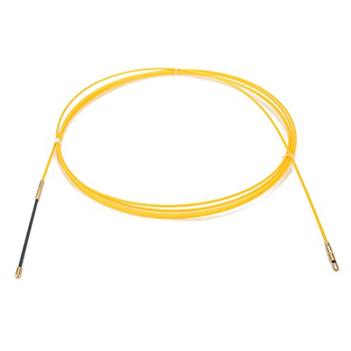 Fiberglass Fish Box (uxcell 16.4 Feet (5M) Glass Fiber Fish Tape Dia 0.12in (3mm) Electrical Wire Threader Cable Running Rods Fish Tape Pulling)