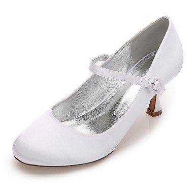 El mejor regalo para mujer y madre Mujer Zapatos Satén Primavera Verano Confort Mary Jane Pump Básico Zapatos de boda Tacón Kitten Tacón Bajo Tacón Stiletto Dedo redondo , us7.5 / eu38 / uk5.5 / cn38