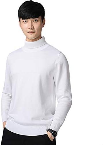 SSHYDT ニット セーター メンズ 秋冬 ビジネス 綿 タートルネック 無地 ゆったり 防寒 大きいサイズ