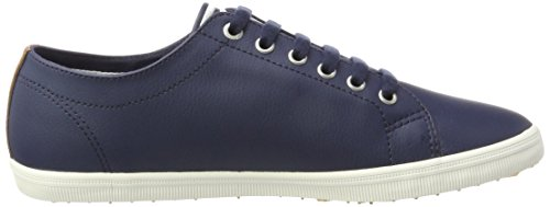 Fred Perry Kingston Sneaker En Cuir Carbone Bleu