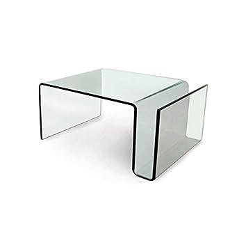 Mesa de centro de cristal transparente diseño moderno con ...
