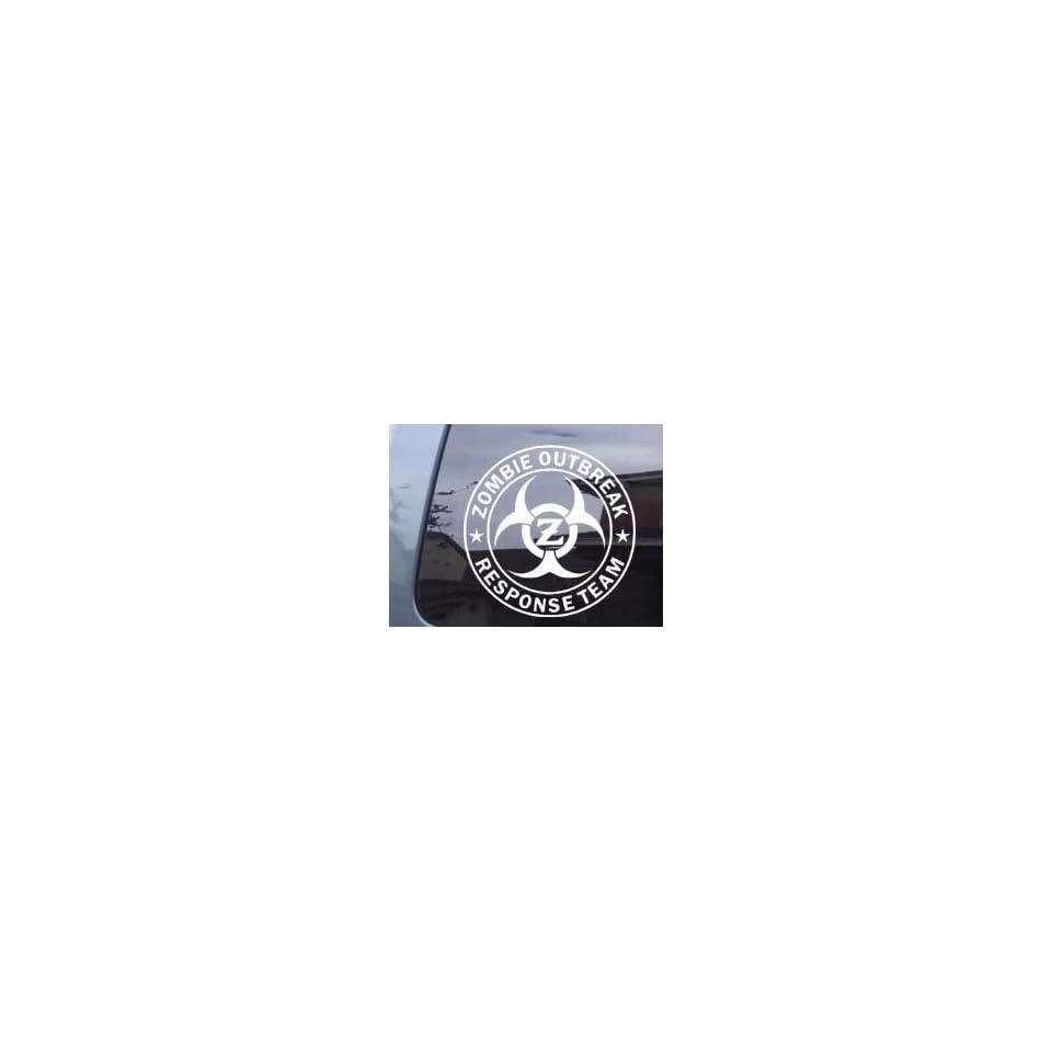 Zombie Outbreak Response Team With Z Car Laptop Vinyl Decal Sticker