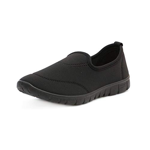Lilley Womens Casual Slip On Pump in Black