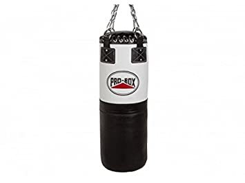Pro Box 3ft Heavy Leather Punch Bag Boxing Home Gym Strike Kick