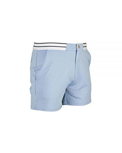 VARLION Pantalon Corto Aniversary Celeste: Amazon.es ...