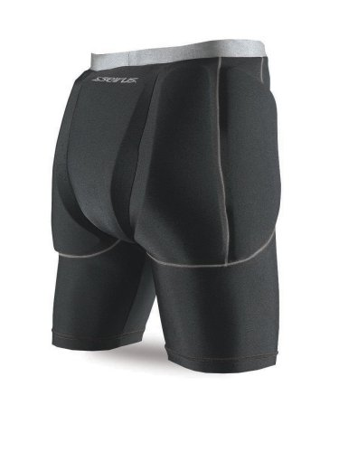 Seirus Innovation 5656 Super Padded Shorts for Skiing, Snowboarding and Outdoor Athletics - Small/Medium, Black