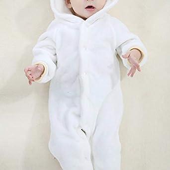 Mibuy Bambino Pagliaccetto Fumetto Tuta Invernale Maniche Lunghe in Flanella Tutina Neonata Tuta Antivento Abbigliamento per Bambini Tute da Neve