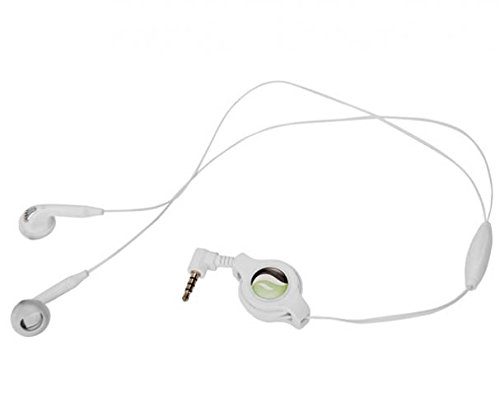 - Retractable Headset Hands-Free w Mic Dual Earbuds Earphones Earpieces Wired Headphones 3.5mm [White] for T-Mobile ZTE Grand X Max 2 - T-Mobile ZTE ZMax - T-Mobile ZTE Zmax Pro