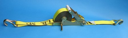 American Industrial / 2'' X 27' Self Contained Ratchet Strap W/ Wire Hook / 3,335 Lbs. Load Capacity