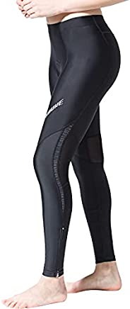 Souke Sports Women's Cycling Pants 3D Padded Bike Bicycle Long Tights for Fall Sp