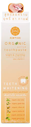Aimthai WHITENING PLUS VITAMIN C, BRIGHT & CHARMING TEETH Organic Active Toothpaste,3.52 Oz/100 gm