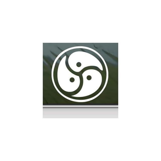 Signet Triskelion Symbol Story Of O White Sticker Decal Car Window Wall Macbook Notebook Laptop Sticker Decal