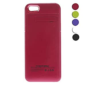 TY 2200mAh External Battery Case Cover with Stand for iPhone 5s , White