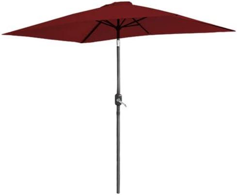 Large Hexagonal 2x3M Sunshade Beach Umbrella Parasol Patio Aluminium Crank Tilt