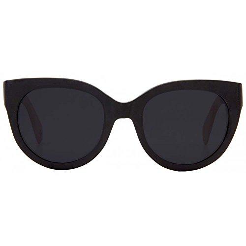 Woodzee Womens Claudia Black Bamboo Polarized Black Wood Sunglasses