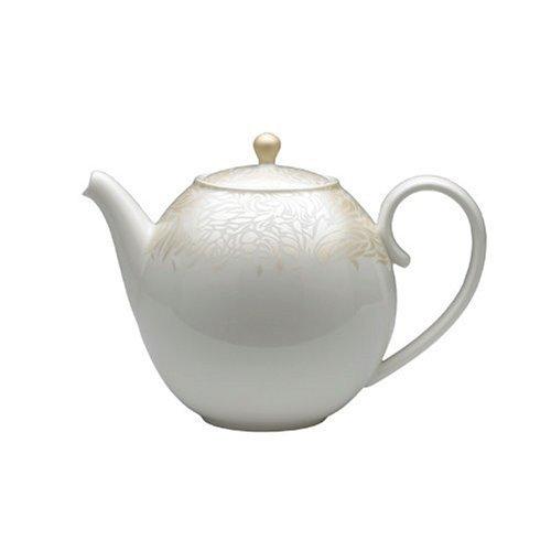 Denby Monsoon Home Lucille Gold 2-1/4-Pint Teapot