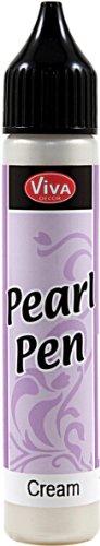 Viva Decor (Viva Decor .8-Ounce Pearl Color Pen, Cream)