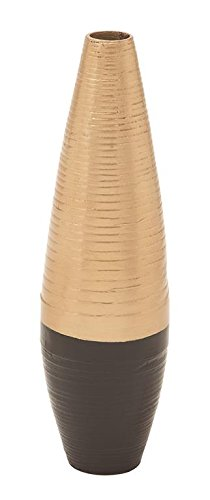Dark Brown Lacquer (Deco 79 49088 Lacquer Bamboo Vase 6
