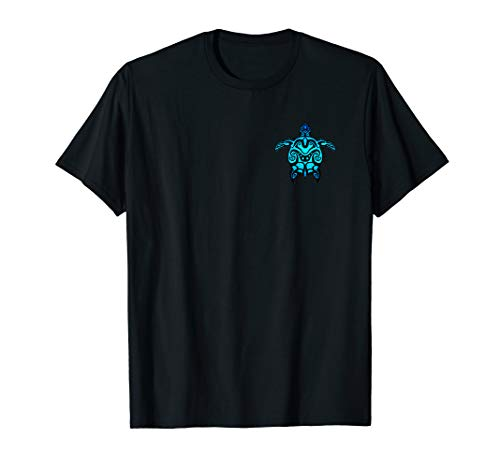 (Tribal Hawaiian Maori Sun Sea Turtle Island T-shirt)