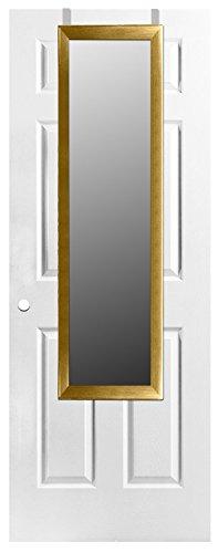 Home Basics Over The Door Full Length Rectangle Mirror (Gold) (Mirror Length Full Gold)