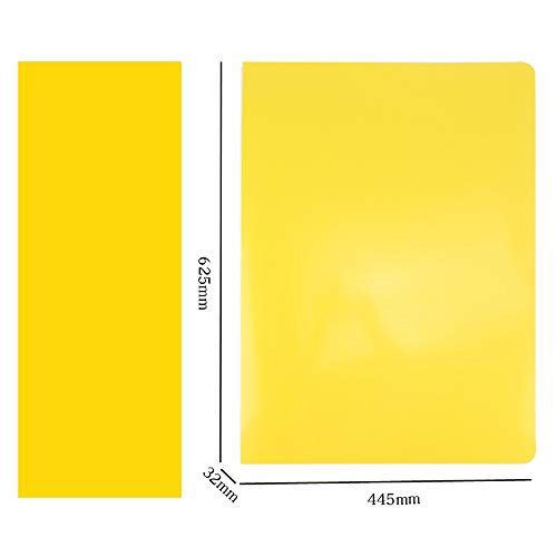 - Large Size Transparent Information Booklet A2 Storage Folder, Multi-Layer Insert Bag Blueprint Book (Color : Yellow)