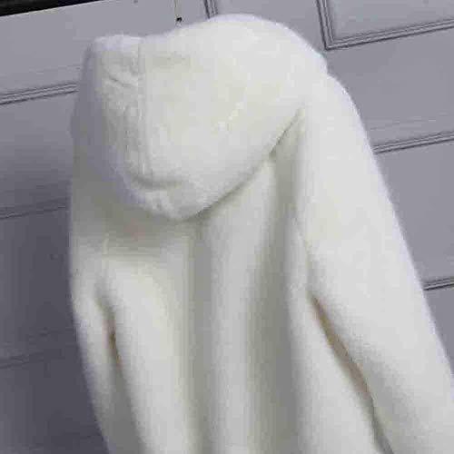 Outwear Cardigan Chaud Capuche Veste À Casquettes Parka Hiver Taille Épais Zhrui Blanc Décontractée Femmes S coloré Dames Survêtement Manteau Solides W1nqxEO