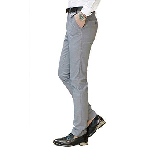 Freizeithose Chinohose Businesshose Casual Fit Work Flatfront Anzughose Bureau Yasminey Hellgrau Slim Leichte Formelle Pants Jeune Pantalon Herren Hose wOxI6xqnvB